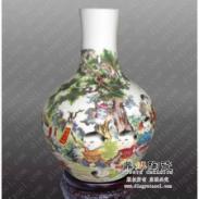 景德镇粉彩瓷高档手绘花瓶摆件图片