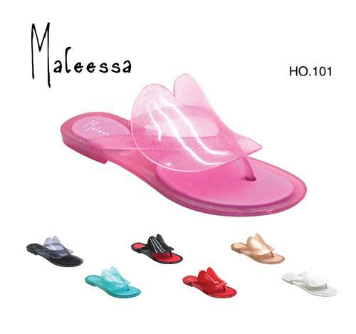 供应pvc女式水晶凉鞋单鞋拖鞋