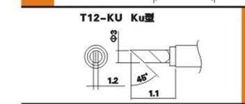 供应白光T12-KU无铅烙铁头HAKKO T12-KU烙铁咀