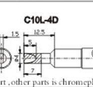 创新高C10L-4D无铅烙铁头图片