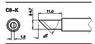 哪家有生产C8系列无铅烙铁头图片