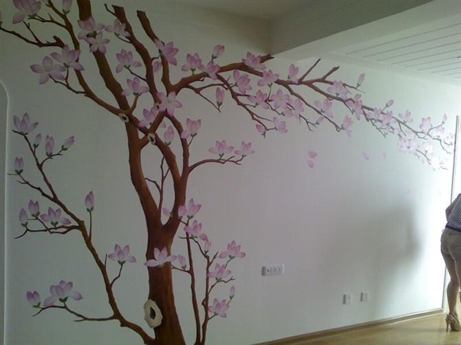 幼儿园春天墙面彩绘;