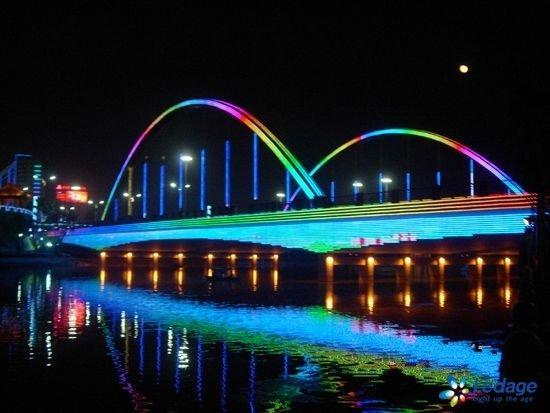 桥梁亮化夜景图 桥梁亮化 桥梁亮化效果图