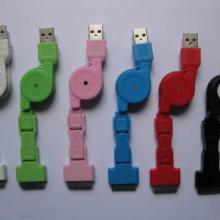供应三合一USB伸缩数据线可折叠