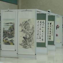 供应北京八棱柱挂画展架租赁销售,北京书画展板出租图片