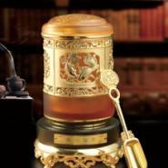 镀金琉璃茶叶罐图片