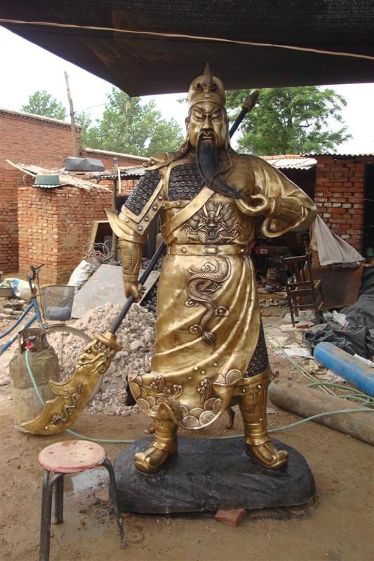 雕塑艺术品图片 雕塑艺术品样板图 关公铜雕价格 铸铜雕塑...