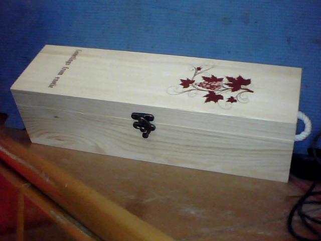 供应木质酒盒红酒木盒定做