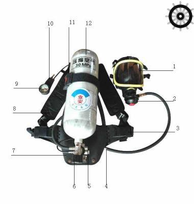 钢瓶空气呼吸器图片/钢瓶空气呼吸器样板图 (1)