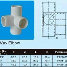 供应美标PVC管件S40立体四通图片