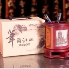 工艺礼品木制圆形笔筒批发  木制圆形笔筒厂家 武汉木制圆形笔批发