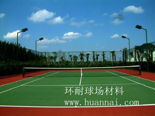 供应硅PU福建球场材料、球场工程 网球场材料 羽毛球场 施工一体服务