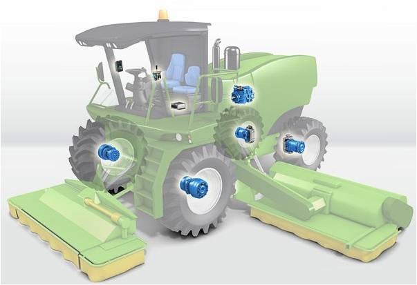 供应水田搬运车波克兰液压驱动马达图片