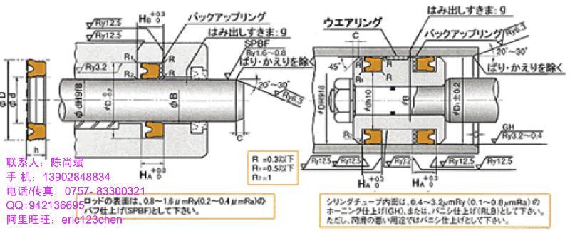 供应液压油缸日本NOKUSI密封件,孔轴两用型油封