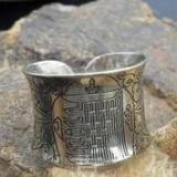 供应佛教戒指图案戒指,定做腐蚀图案字画戒指 订做腐蚀图案字画戒指