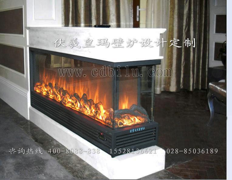 供应台湾酒店壁炉3面火焰;香港别墅伏羲电壁炉3面观火;澳门壁炉3面火