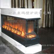 台湾酒店壁炉3面火焰图片