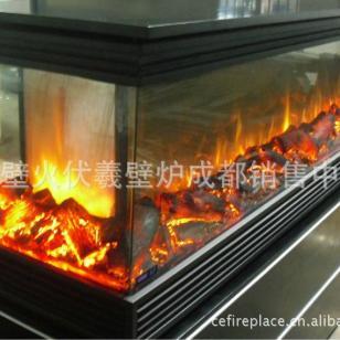 富豪城市鄂尔多斯榆林3面火电壁炉图片