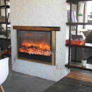 咖啡厅电壁炉图片