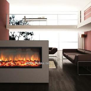 单面纯观火客厅欧壁火伏羲壁炉图片