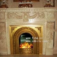 中国顶级奢侈铸铜电壁炉宫延贵族用图片
