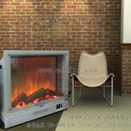 移动独立壁炉嵌入壁炉两用图片