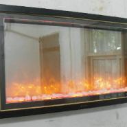 香格里拉壁挂式酒店宾馆壁炉火图片