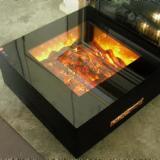 供应4面内焰观火电子火坑壁炉