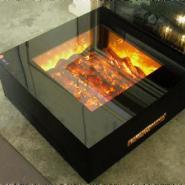 4面内焰观火电子火坑壁炉图片