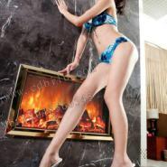 成都酒店KTV酒吧钛金壁炉图片