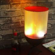 烛台式孔明灯型电子壁炉火焰灯笼图片