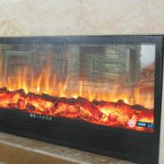 欧式壁炉三面火焰图片