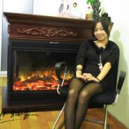带火光壁炉图片