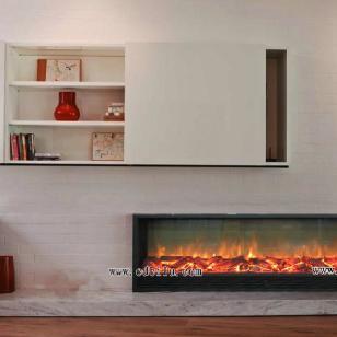 家用设计师钟爱加长型欧壁火壁炉图片