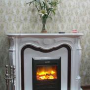 TH135-18S1木质白色套装电壁炉图片