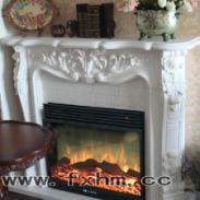 28Q2伏羲电壁炉汉白玉大理石壁炉图片