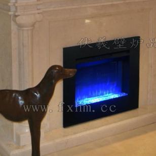 蓝色火焰壁炉图片