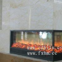 供应冠军瓷砖国际展厅三面火焰伏羲仿真火壁炉