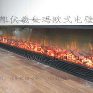 北京朝阳润泽庄园壁炉火焰墙图片