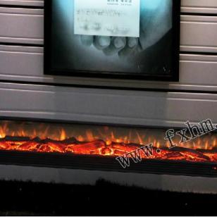 电视柜壁炉图片