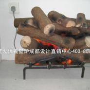欧式火焰柴堆壁炉图片