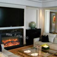 伏羲欧式电壁炉客厅装饰图片