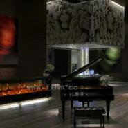 钢琴旁的伏羲壁炉图片