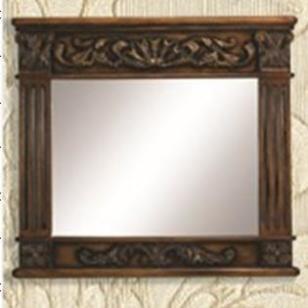 VA224欧式壁炉配套欧式雕花镜子图片