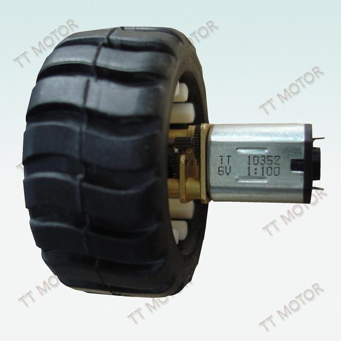 供应用于玩具车生产 机器人生产 小家电生产的带轮胎的的N20减速电机,