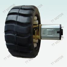 供应用于玩具车生产|机器人生产|小家电生产的带轮胎的的N20减速电机,图片