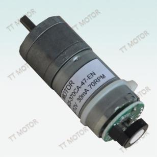 带编码器370CA直流减速电机图片