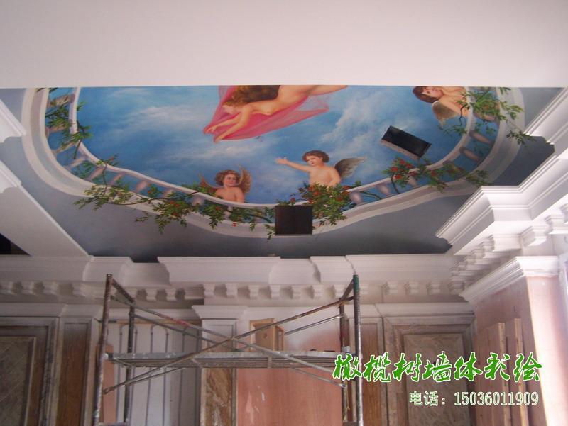 墙体画画图片