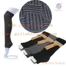 广州针织厂粗线袜筒/立体花型长袜/腈纶腿套/暖腿套批发