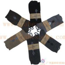 佛山袜子厂单针袜机羊毛袜/菱形男袜/保暖男袜批发